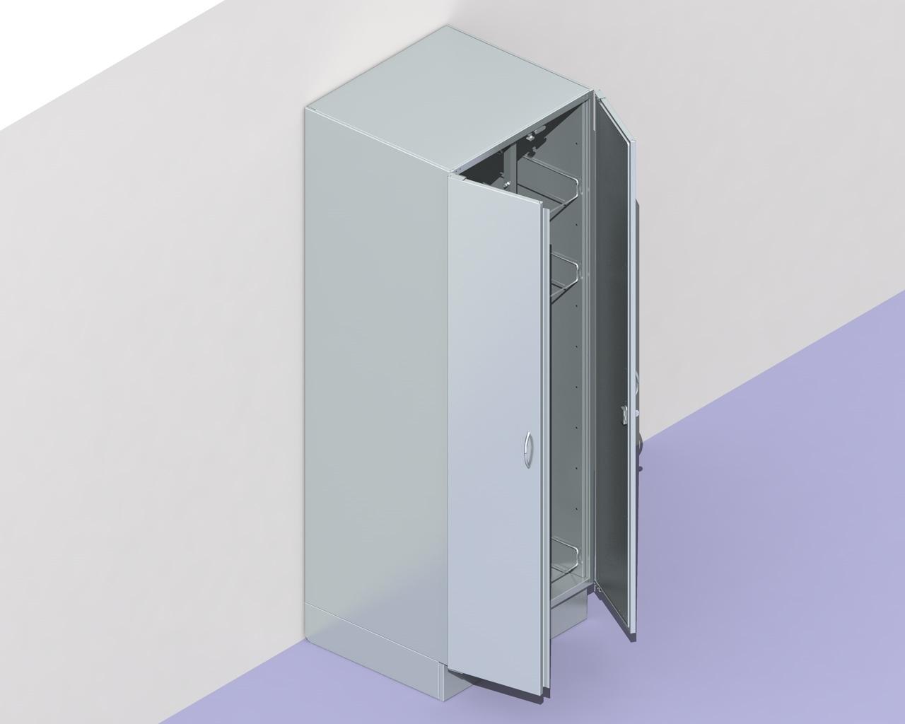 "Armadio in acciaio inox ""STE"" porta container   Arredi Inox"