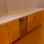 working bench with Corian top