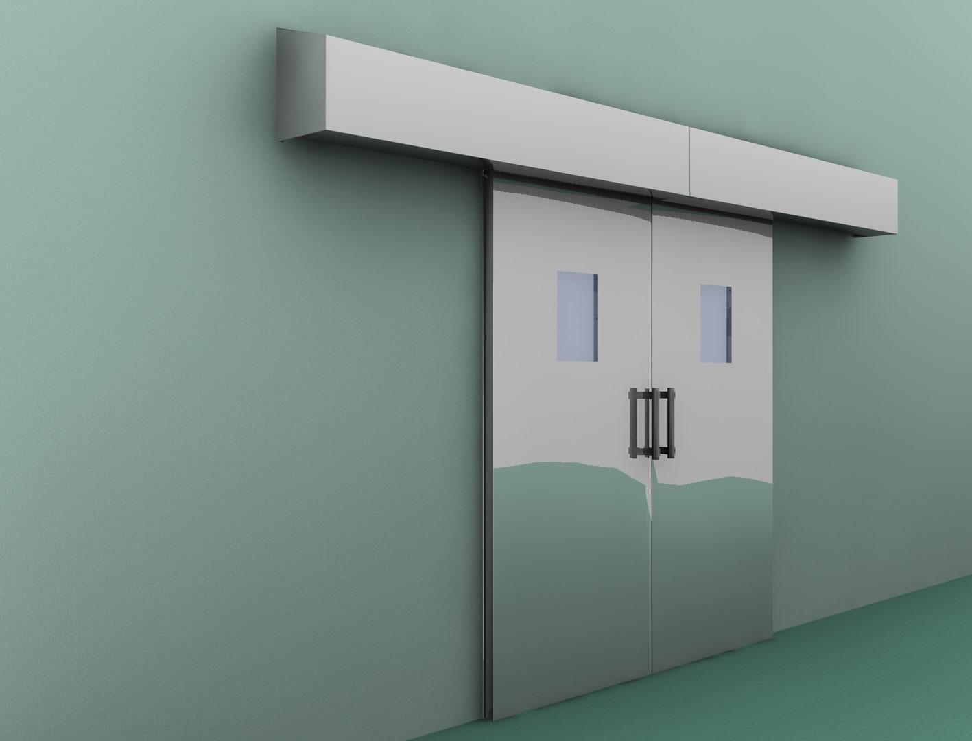 Porta scorrevole automatica chiusura ermetica arredi inox - Chiusura per porta scorrevole ...