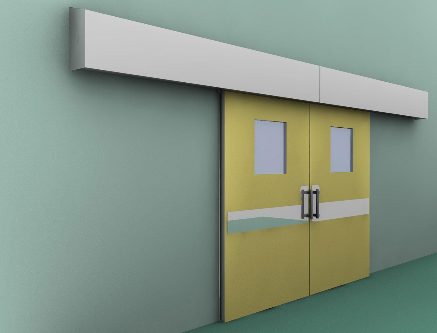 Porta Scorrevole Su Muro Portante porta scorrevole automatica in hpl | arredi inox